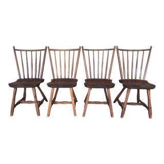 Hunt Country Furniture Oak Side Chairs - Set of 4