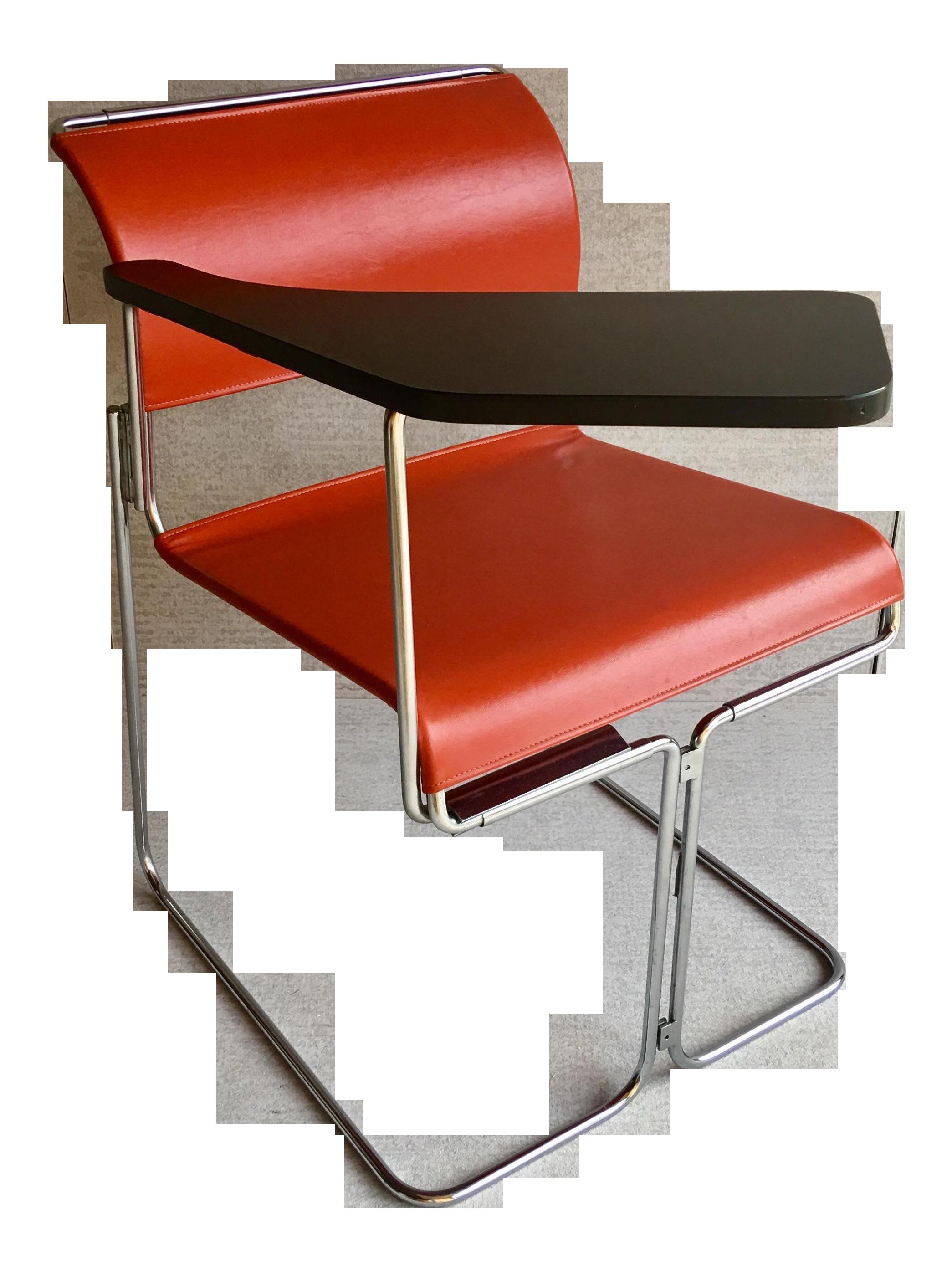 Lovely Vintage Harter Vinyl U0026 Chrome Tablet Chair