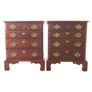 Harden Colonial Style 4-Drawer Nightstands - A Pair