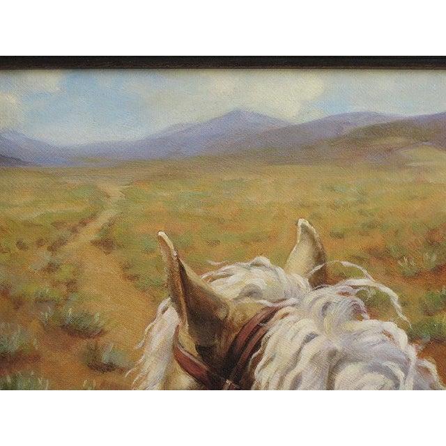 """Ute Simon """"Desert Trail"""" Horse Painting - Image 5 of 7"""