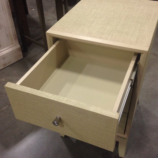 Bassett Taupe Wooden Side Table Chest - Image 6 of 6