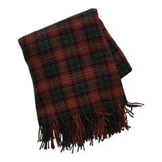 Ralph Lauren Red Tartan Cashmere Throw Blanket