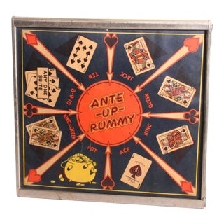 Vintage 1940s Playing Card Poker Room Wall Hanging