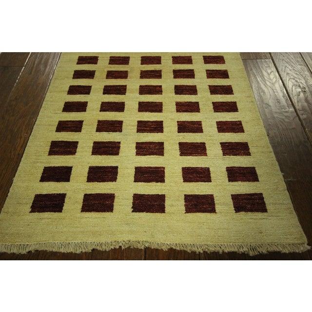 Ivory Checkered Kashkuli Gabbeh Runner - 3'x10' - Image 5 of 9
