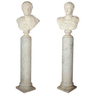 Mated Pair of Grand Tour Busts