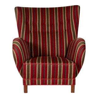Danish High Back Lounge Chair