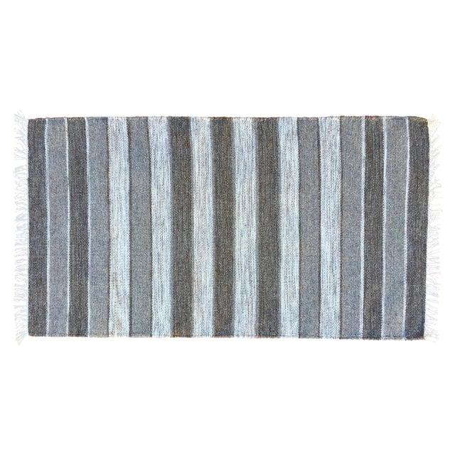 Handwoven Striped Ethnic Wool Rug - 2′3″ × 3′9″ - Image 1 of 5
