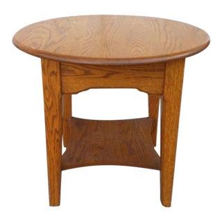 Vintage Mission-Style Oak Side Table