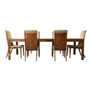 Bernhard Rohne for Mastercraft Burl Dining Set-S/7