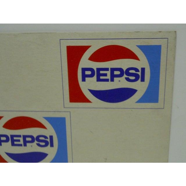 C. 1970 Cardboard Pepsi Advertising Sign - Image 4 of 5