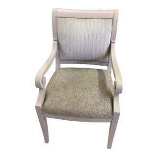 Brunschwig & Fils Painted French Linen Armchair