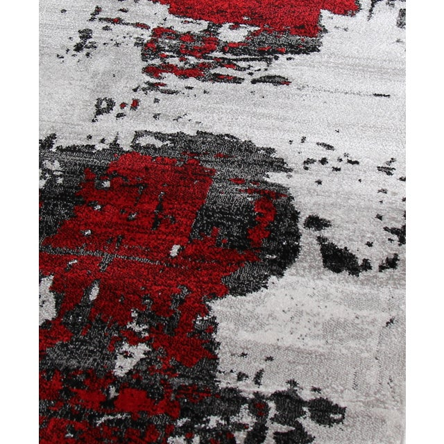 Abstract Red Rug - 3′ × 10′ - Image 2 of 4