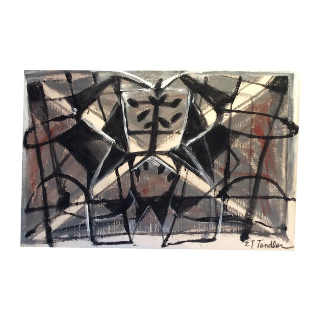 Mid-Century Modern Style Abstract Painting - Image 1 of 5