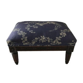 Vintage Blue Toile Footstool