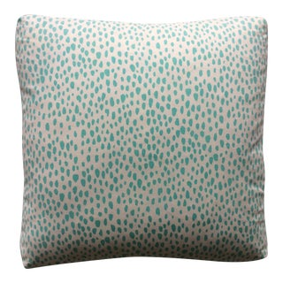Brunschwig & Fils Abstract Turquoise Dot Pillow