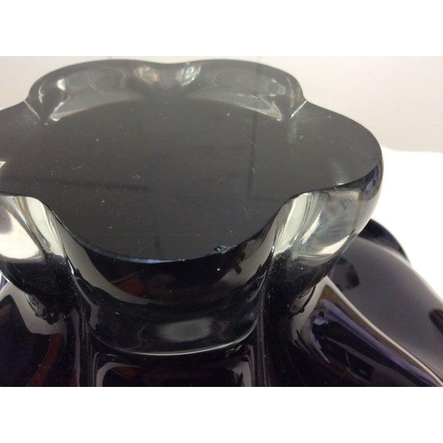 Image of Black Murano Glass Large Decorative Bowl
