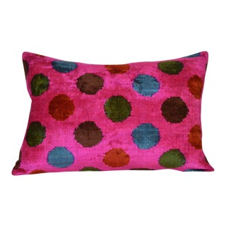 Josi Silk Velvet Ikat Pillow