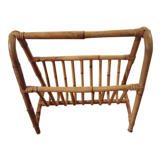 Rattan Bamboo Magazine Rack