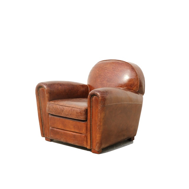 Pasargad Genuine Leather Paris Club Chair - Image 3 of 5