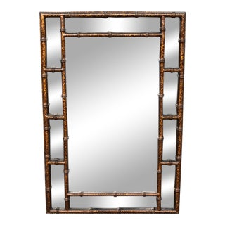 Mid-Century Faux Tortoise Wall Mirror