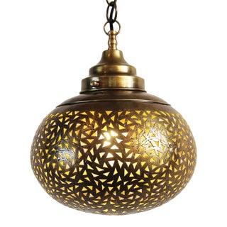 Tri Pattern Brass Lantern