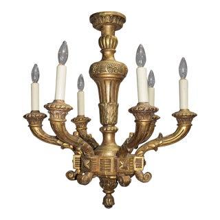 Antique chandelier, gilt wood
