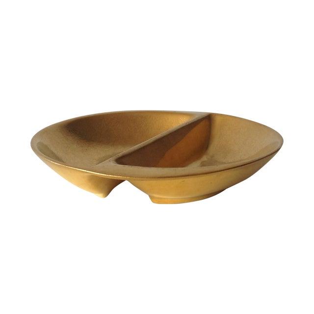 Pickard 24k Gold Divided Floral Motif Dish - Image 1 of 11
