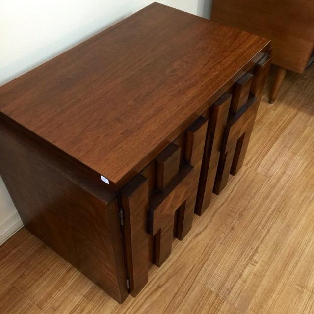 Brutalist End Tables by Lane - Pair - Image 5 of 6