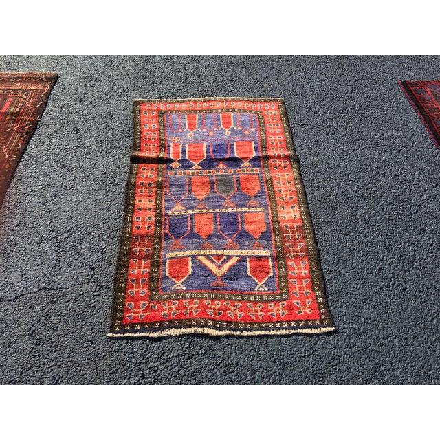 "Vintage Persian Mehebad Small Area Rug - 2'7""x4'3"" - Image 2 of 9"