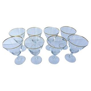 Fostoria Mid-Century Crystal Water Glasses - S/8