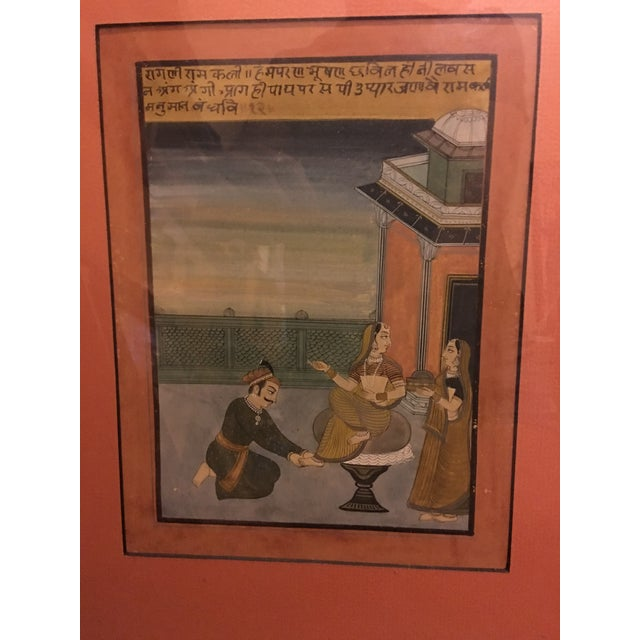 19th Century Mughal Framed Diptych Painting - Image 6 of 7