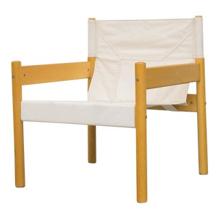 Børge Mogensen Style Canvas Safari Lounge Chair