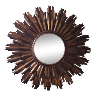 LaBarge Decorative Gold Gilded Sunburst Wall Mirror