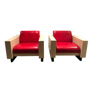 Brian Kane for Metropolitan Furniture Arm Chairs - A Pair