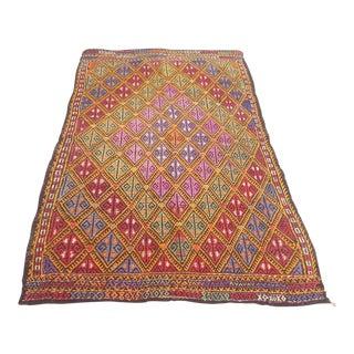 Vintage Turkish Anatolian Rug- 3′11″ × 5′11″