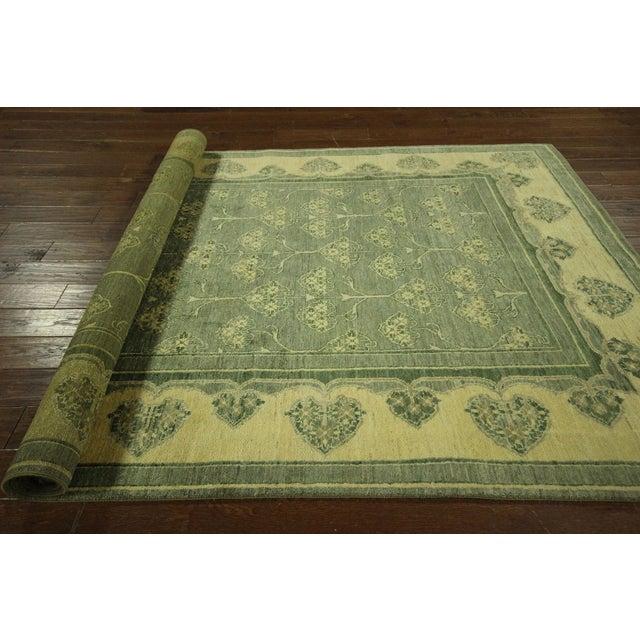 "Green Chobi Gabbeh Oriental Rug - 6'1"" x 9'3"" - Image 10 of 10"