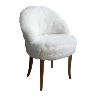 Edmund Jorgensen Danish Lamb's Wool Vanity Chair