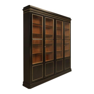 Antique French Louis Philippe Style Bookcase in an Ebonized Finish