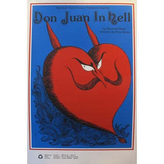 1977 National Arts Centre Poster, Don Juan in Hell