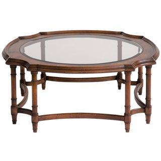 Burlwood and Smoked Glass Coffee Table
