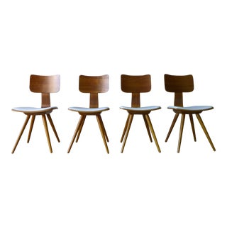 Mid-Century Modern Bentwood Dining Chairs - Set of 4