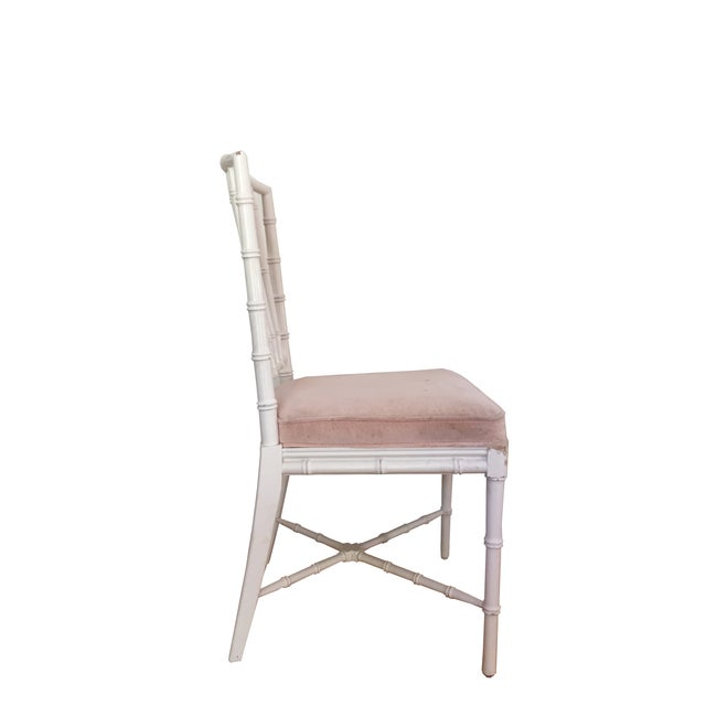 Faux Bamboo Chinese Chippendale Chairs - Set of 4 - Image 2 of 5