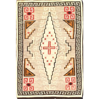 "Pasargad Ny Antique Reversible Navajo Flat-Weave Area Rug - 4'10"" X 7'"