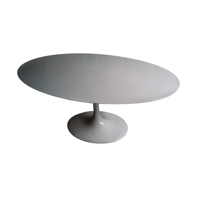 Image of Saarinen Style Mid Century Tulip Dining Table