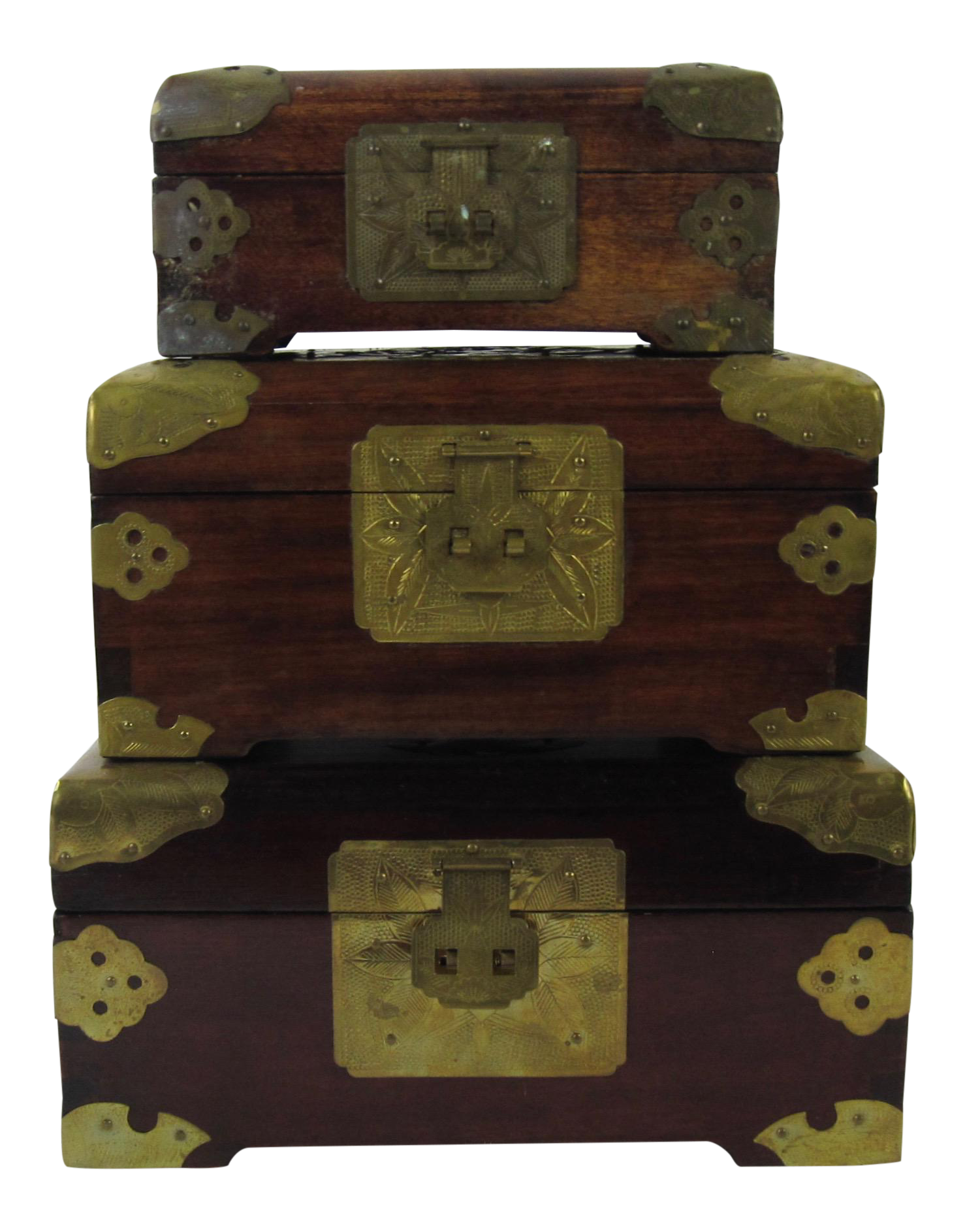 Antique Chinese Jewelry Boxes With Jade - Set of 3  sc 1 st  Chairish & Vintage u0026 Used Asian Antique Boxes | Chairish Aboutintivar.Com