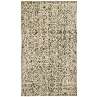 Patterned Beige Overdyed Carpet | 3'1 x 5'3 Rug