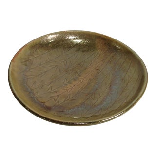 Green Glazed ceramic bowl/plate/Denmark