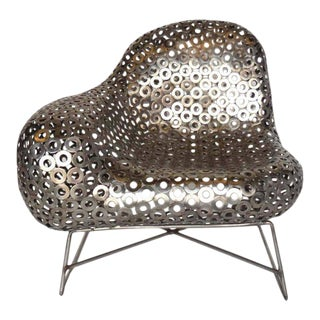 Free-Form Metal Lounge Modern Lounge Chair