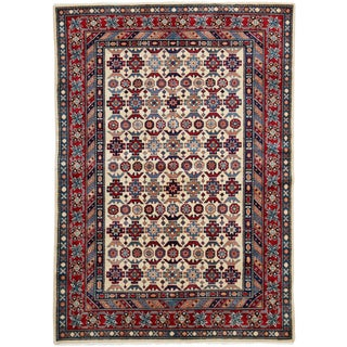 """New Traditional Hand Knotted Area Rug - 4'1"""" x 5'8"""""""