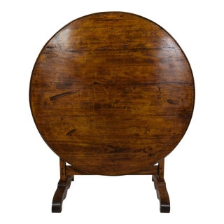 Antique French Rustic Wine Tasting Table